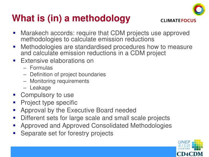 What is in a methodology
