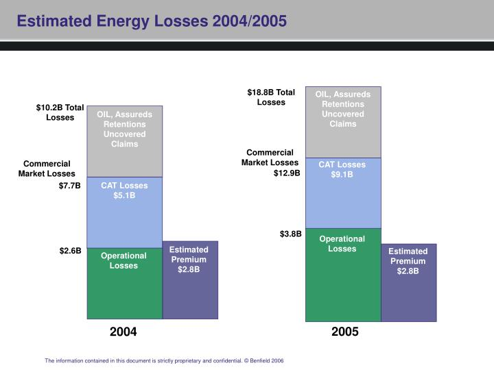 Estimated Energy Losses 2004/2005