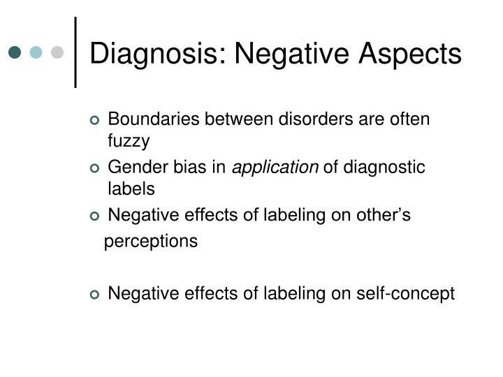 Diagnosis: Negative Aspects