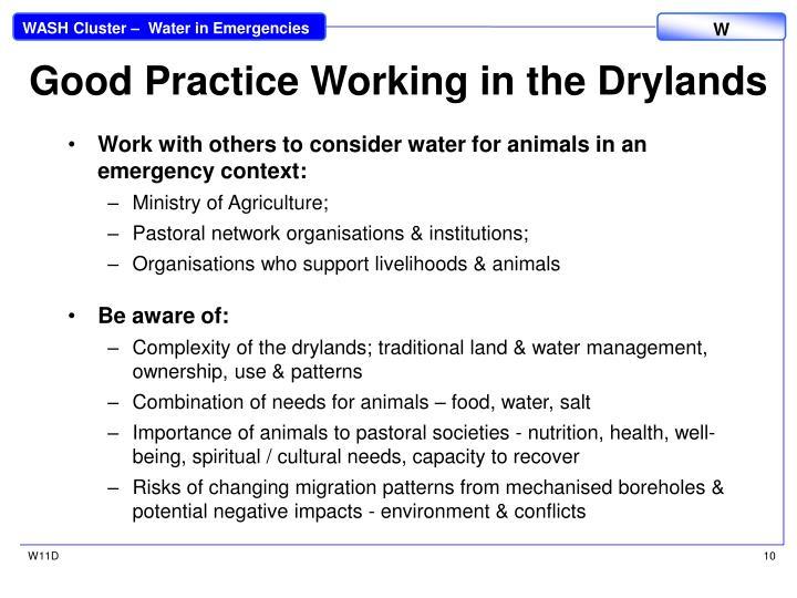 Good Practice Working in the Drylands