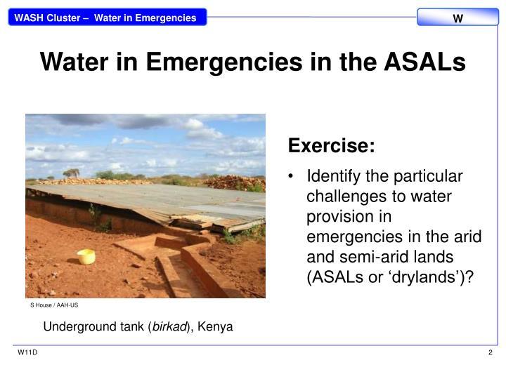Water in Emergencies in the ASALs
