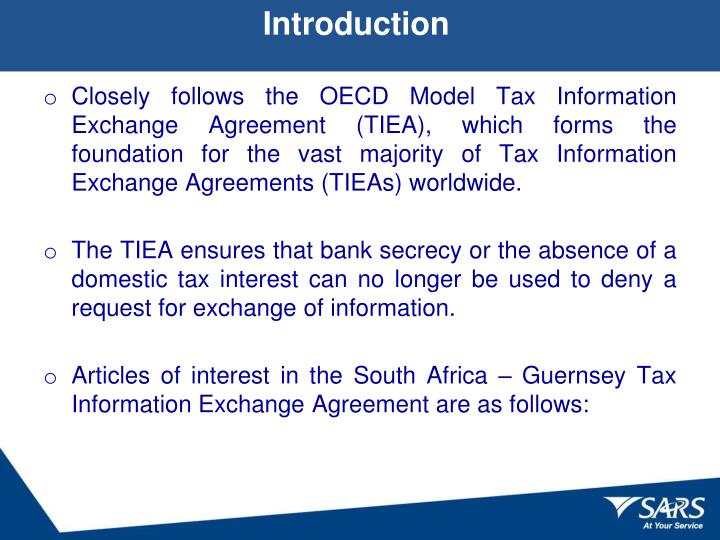 Ppt  Tax Information Exchange Agreements Formal Ratification