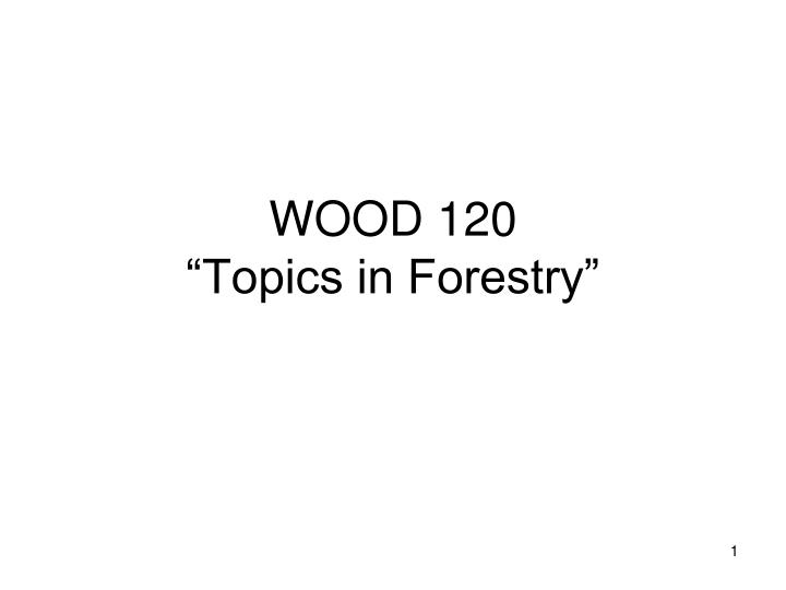 wood 120 topics in forestry n.