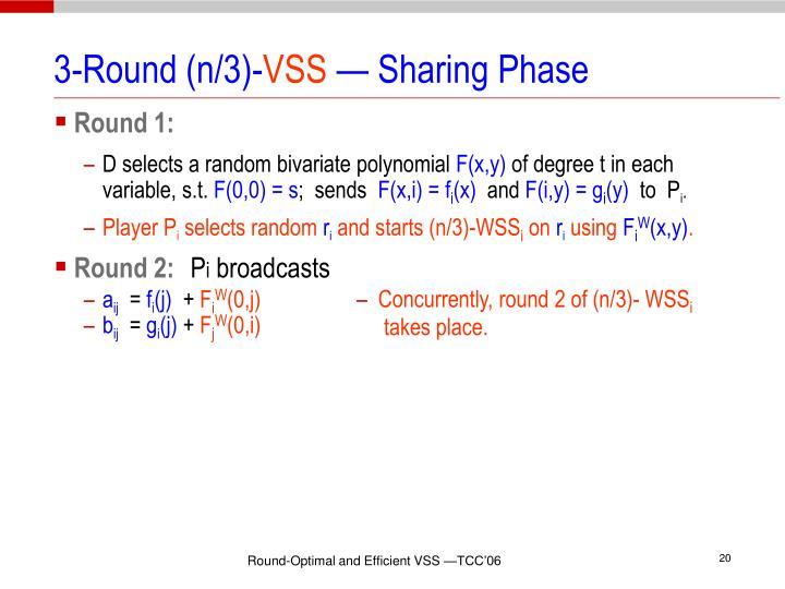 3-Round (n/3)-