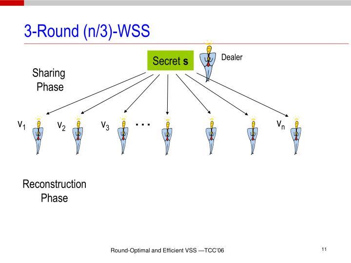 3-Round (n/3)-WSS