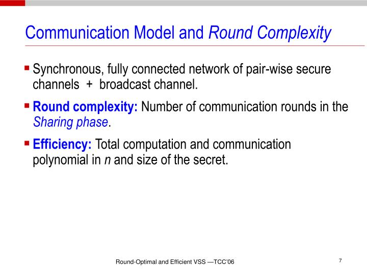 Communication Model and