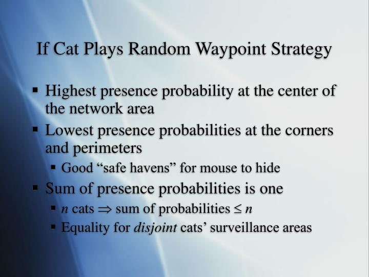If Cat Plays Random Waypoint Strategy