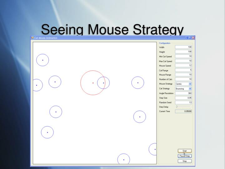 Seeing Mouse Strategy