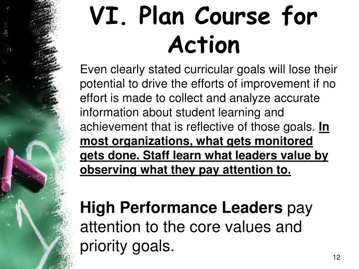 VI. Plan Course for Action