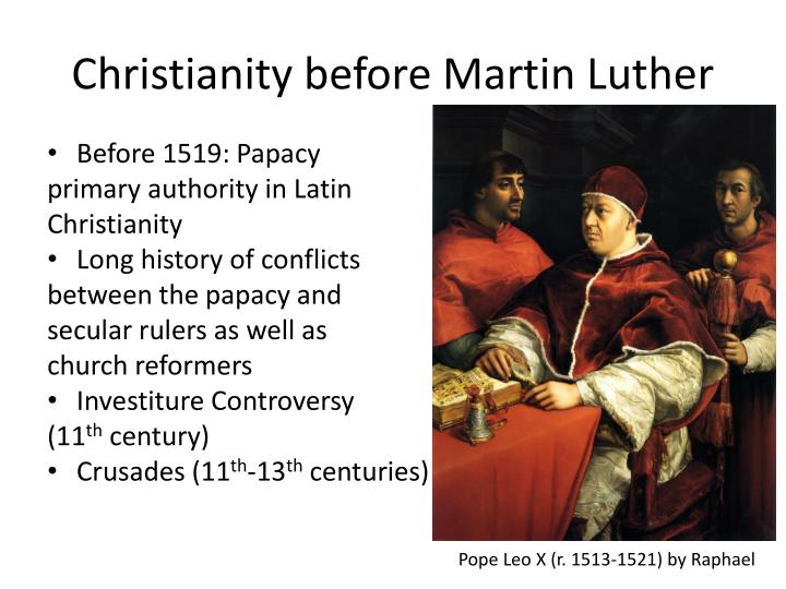 Christianity before Martin Luther