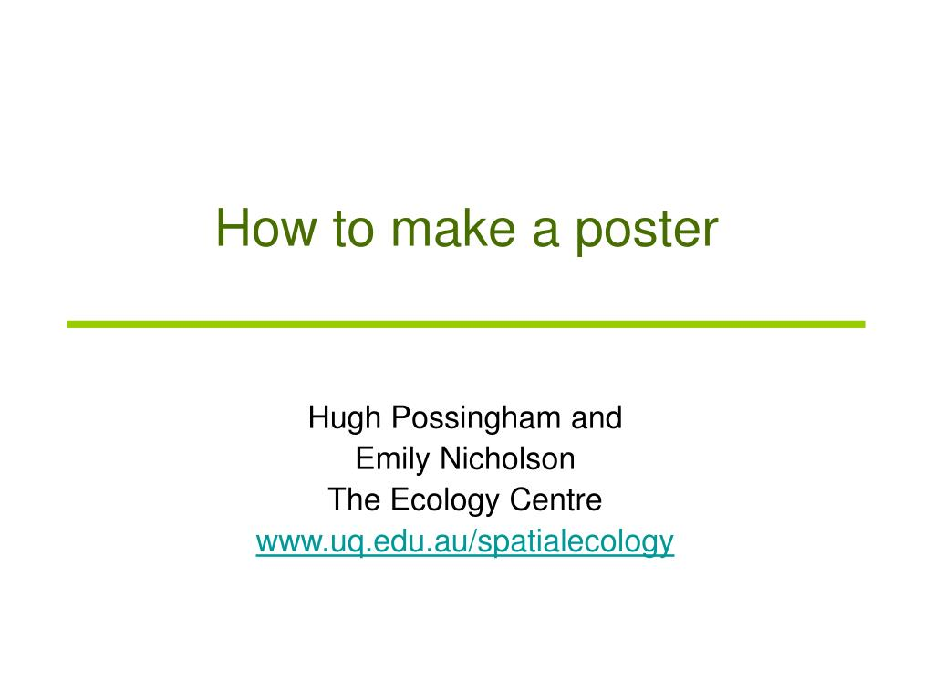 ppt how to make a poster powerpoint presentation id 4170139