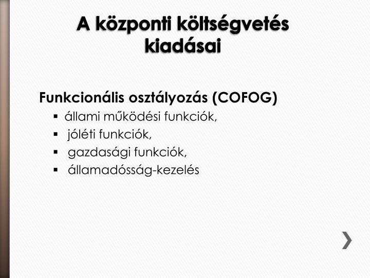 Funkcionális osztályozás (COFOG)