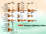 cbm issues library wise