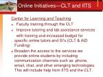 online initiatives clt and iits