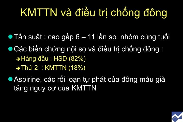 KMTTN và điều trị chống đông