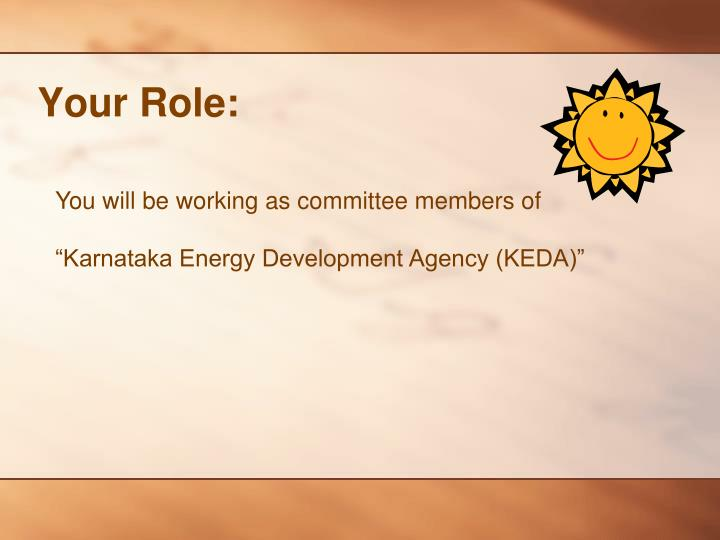 Your Role: