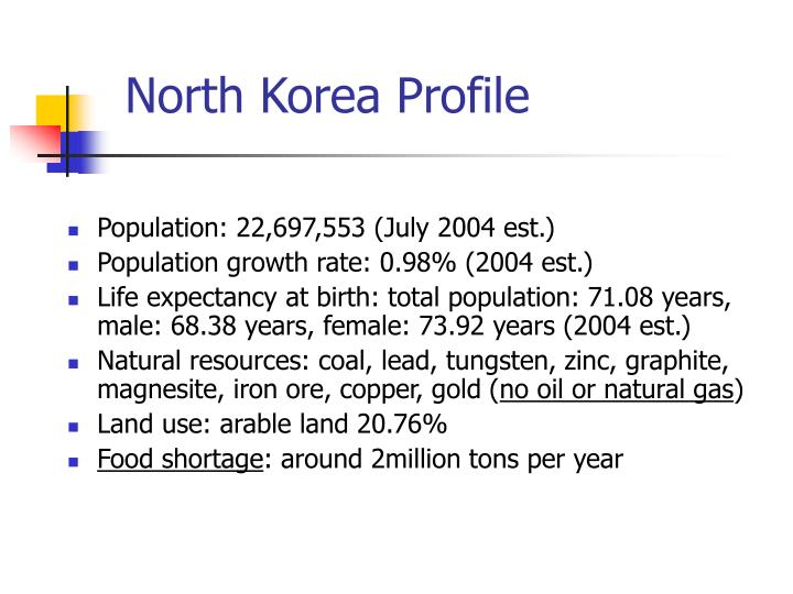 North Korea Profile