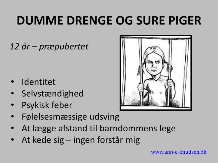 DUMME DRENGE OG SURE PIGER