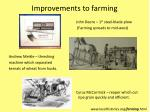 improvements to farming
