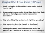 chapter 8 part 1 note check 10 points