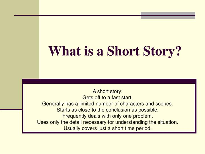 what is a short story n.