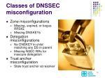 classes of dnssec misconfiguration