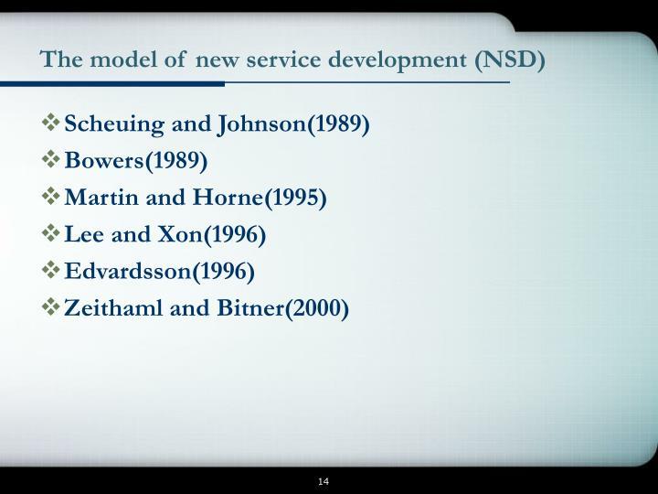 The model of new service development (NSD)