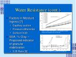 water resistance cont