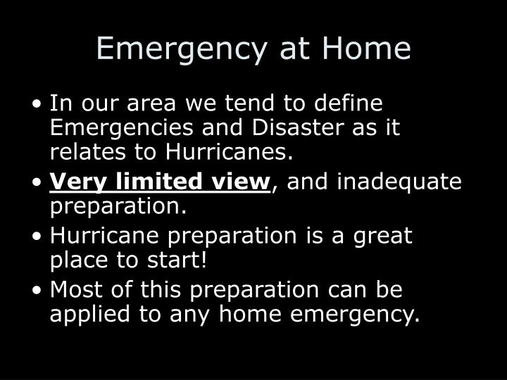 Emergency at Home