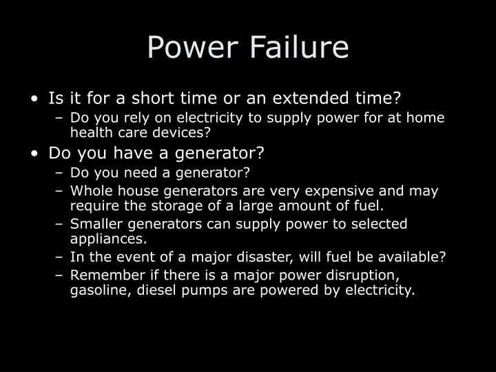 Power Failure
