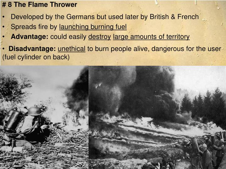 # 8 The Flame Thrower