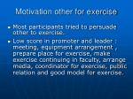 motivation other for exercise