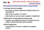 estimation results labour demand service sector