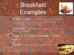 breakfast examples