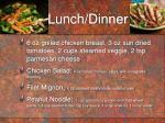 lunch dinner