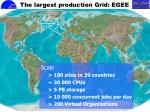 the largest production grid egee