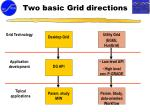 two basic grid directions