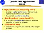 typical grid application areas