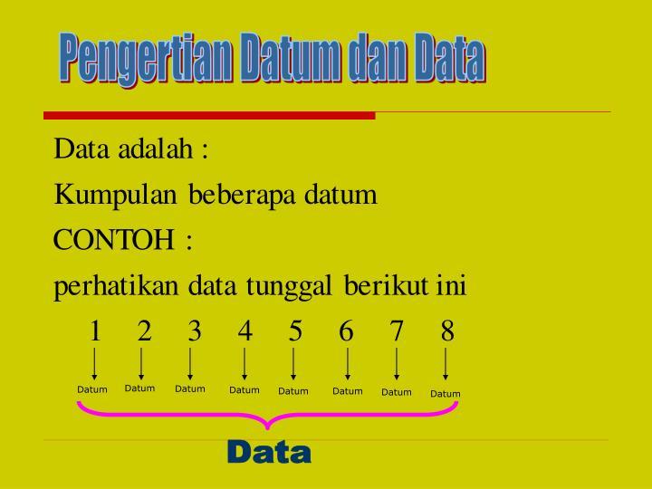 Pengertian Datum dan Data