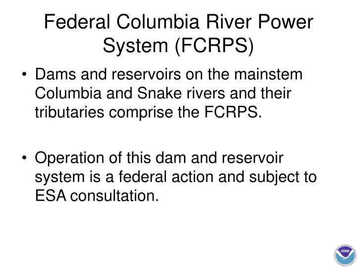 Federal columbia river power system fcrps