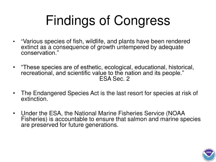 Findings of congress