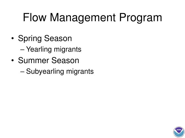 Flow Management Program