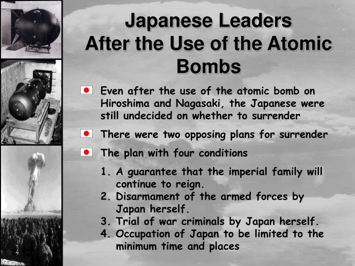 atomic bomb essay questions Atomic bomb essays on august 6, 1945, at 8:15 the american plane the enola gay changed history forever the plane dropped the first atomic bomb over the city of hiroshima, japan in a successful effort to ended world war ii the question on whether or not such a powerful attack was necessary.