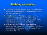 building vocabulary1