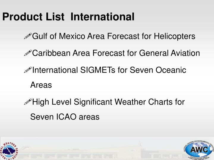 Gulf of Mexico Area Forecast for Helicopters