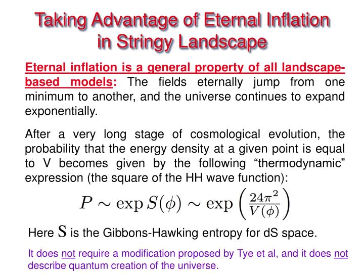 Taking Advantage of Eternal Inflation in Stringy Landscape