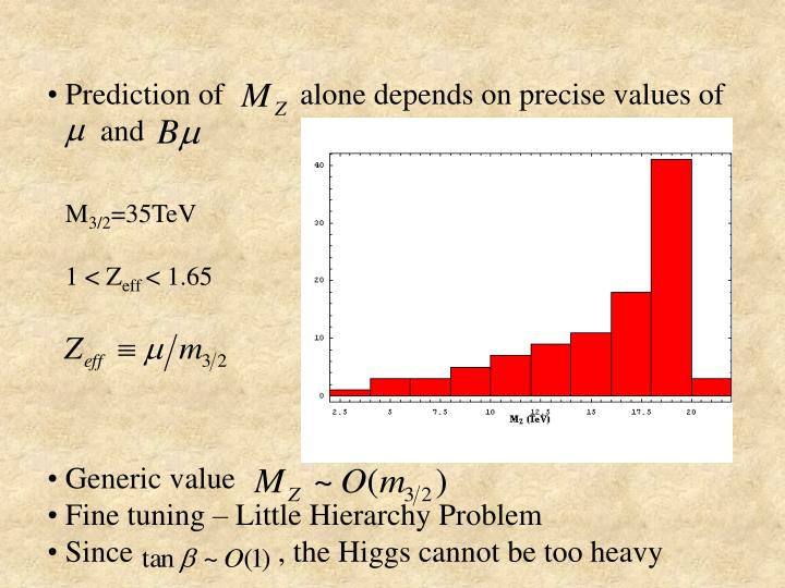 Prediction of          alone depends on precise values of