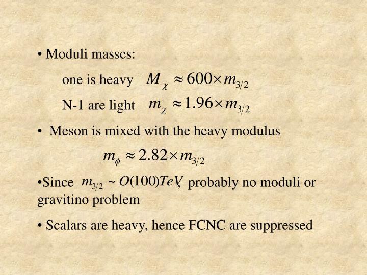 Moduli masses: