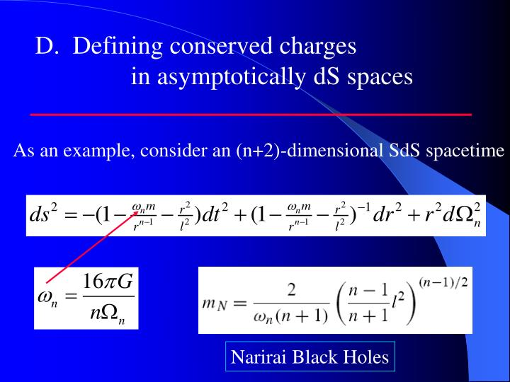 D.  Defining conserved charges