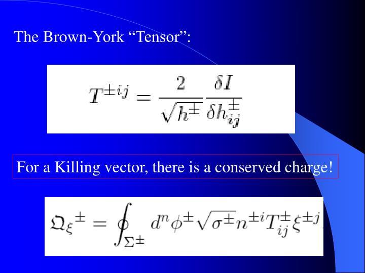 """The Brown-York """"Tensor"""":"""